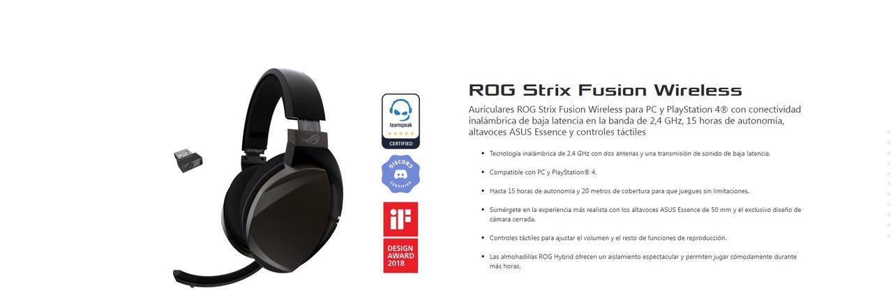 Presentación sobre Asus Rog Strix Fusion