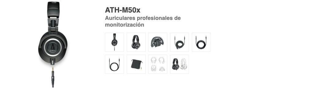 Presentación sobre Audio Technica ATH-M50x