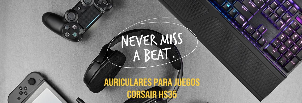 Presentación sobre Auriculares Corsair HS35
