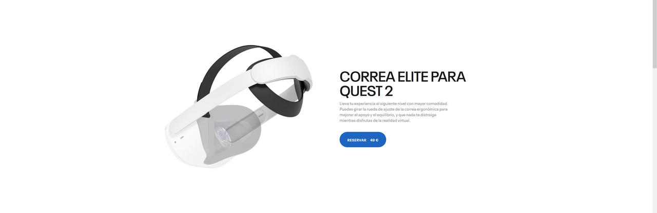 Presentación sobre Correa Elite Oculus Quest 2