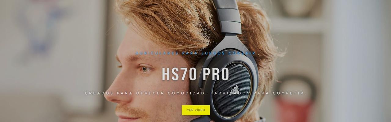 Presentación sobre Corsair HS70 Pro