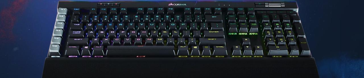 Presentación sobre Corsair K95 RGB Platinum