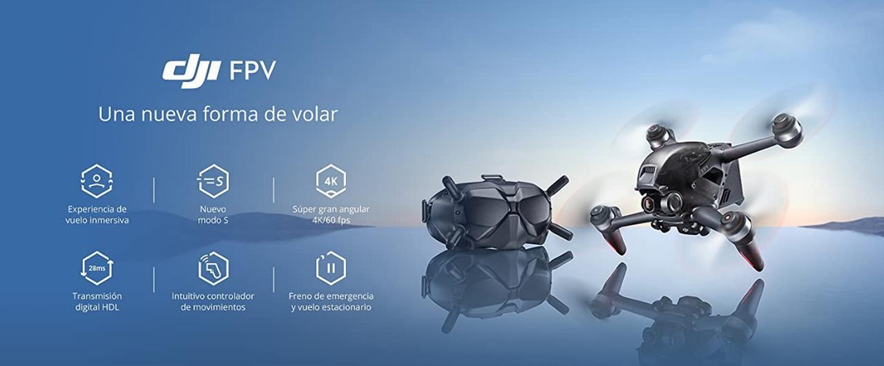 Presentación sobre DJI FPV Combo Drone Quadcopter