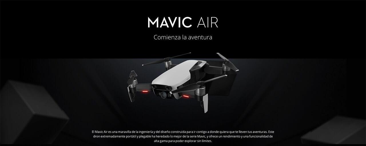 Presentación sobre DJI Mavic Air