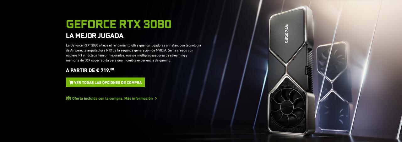 Presentación sobre GeForce RTX 3080