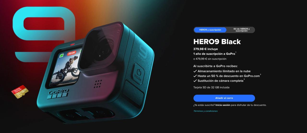 Presentación sobre GoPro HERO9 Black