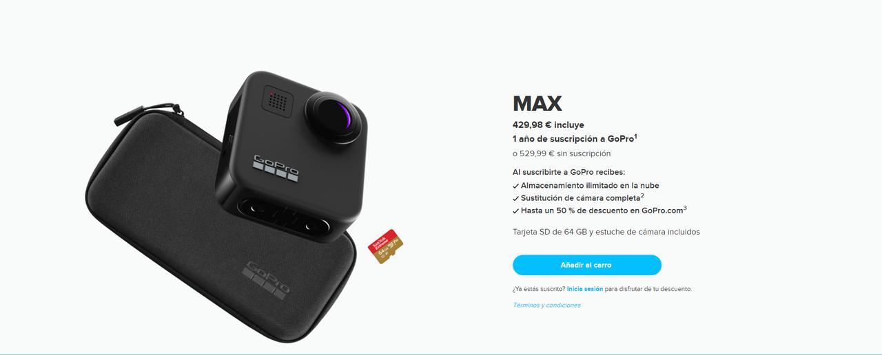 Presentación sobre GoPro Max