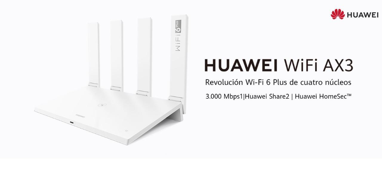 Presentación sobre HUAWEI WiFi AX3 Quad-core WiFi 6 Plus