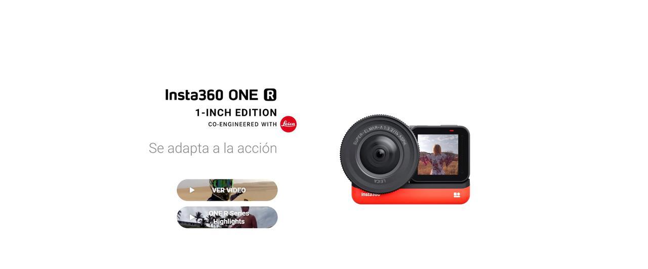 Presentación sobre Insta 360 ONE R 1 - Inch Edition