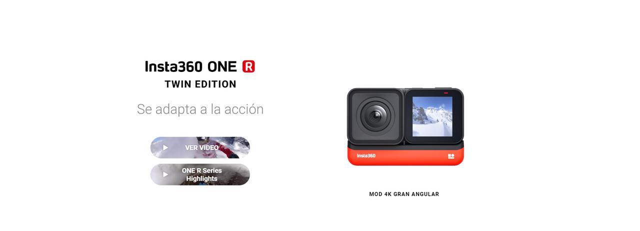 Presentación sobre Insta360 ONE R Twin Edition