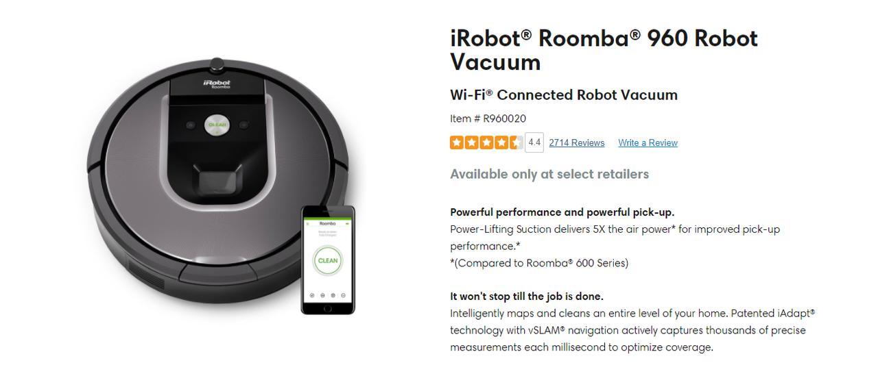 Presentación sobre iRobot Roomba 960