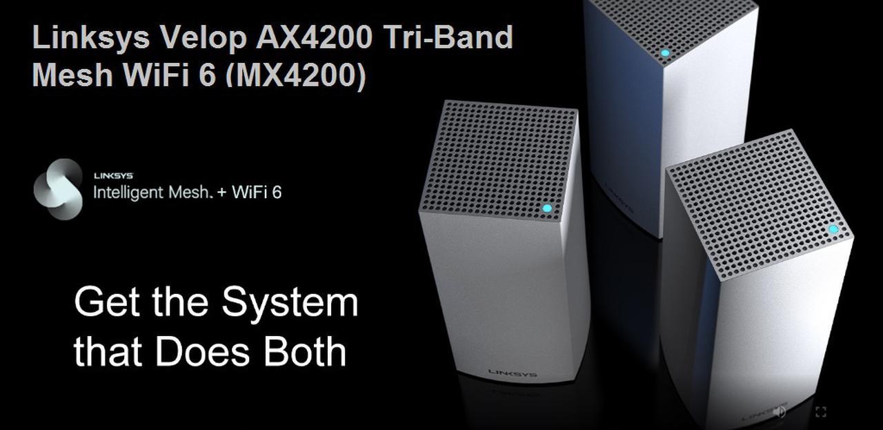 Presentación sobre Linksys MX4200 Velop WiFi 6 Mesh