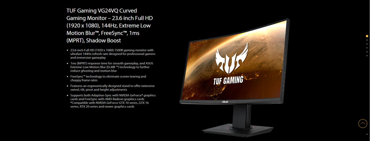 "Presentación sobre Monitor gaming Asus TUF Gaming VG24VQ 23.6"""