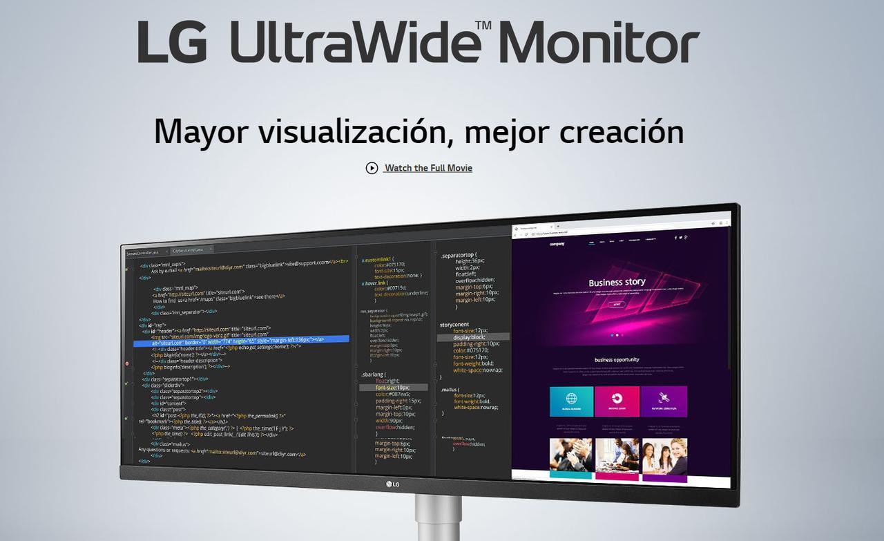 Presentación sobre Monitor LG 34WN650