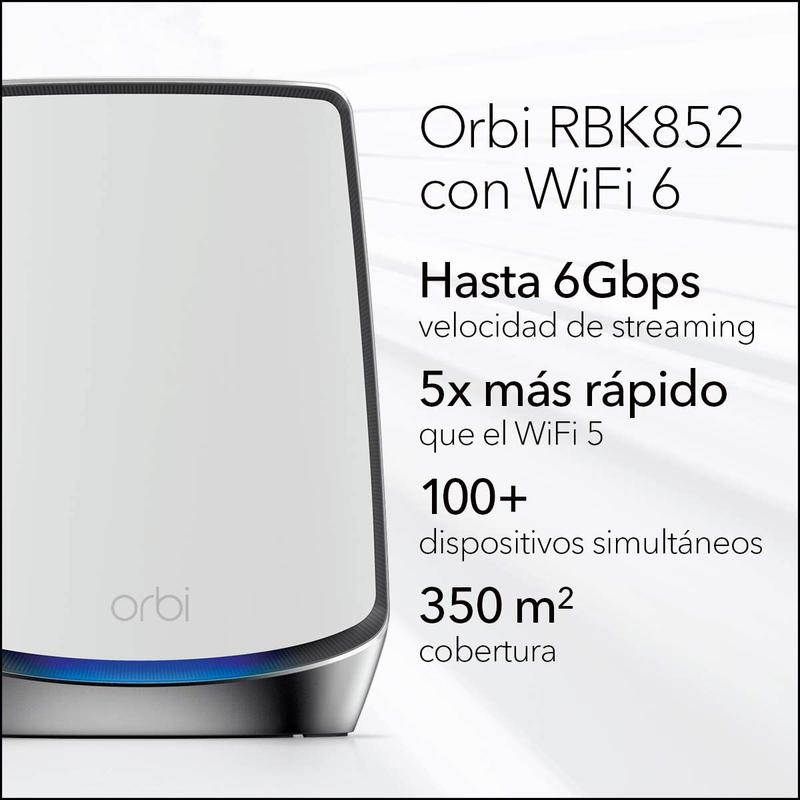 Imagen de Netgear Orbi WiFi 6 RBK852 número 1