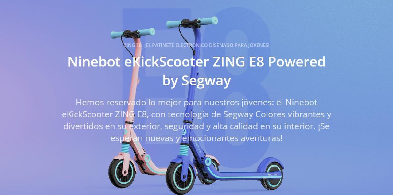 Presentación sobre Ninebot eKickScooter Zing E8