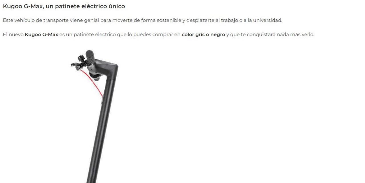 Presentación sobre Patinete eléctrico Kugoo G-Max