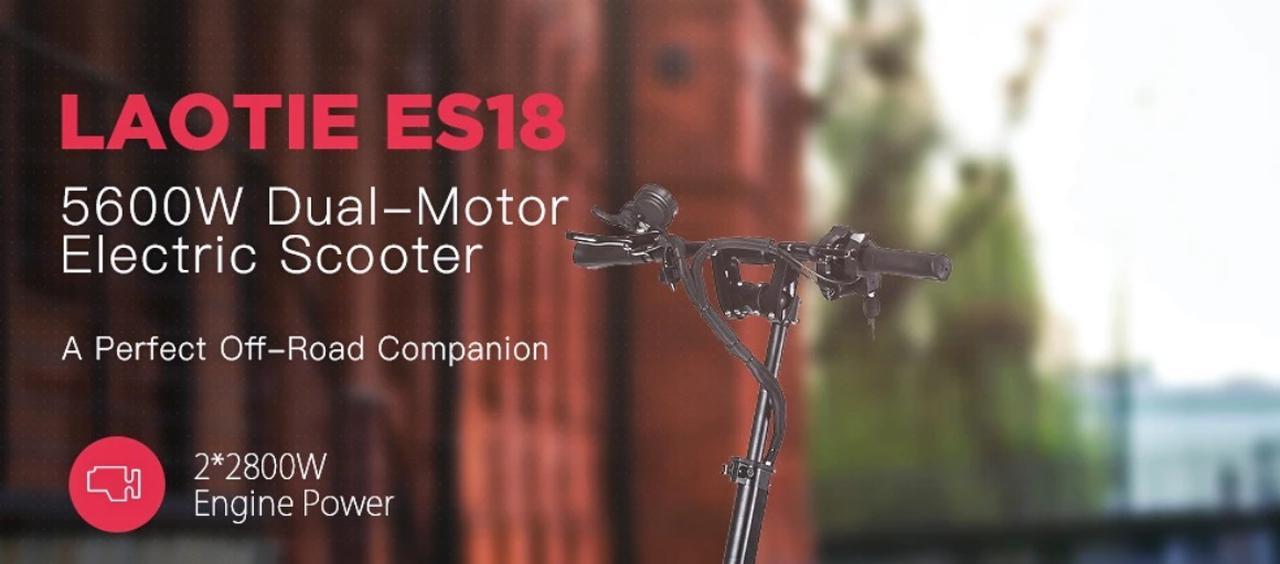Presentación sobre Patinete eléctrico Laotie ES18 5600W