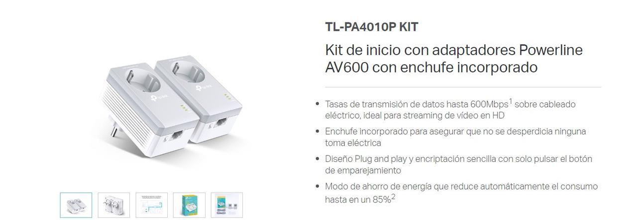 Presentación sobre PLC TP-Link AV 600 TL-PA4010P
