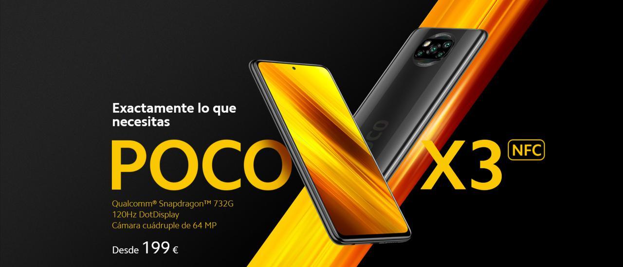 Presentación sobre POCO X3 NFC
