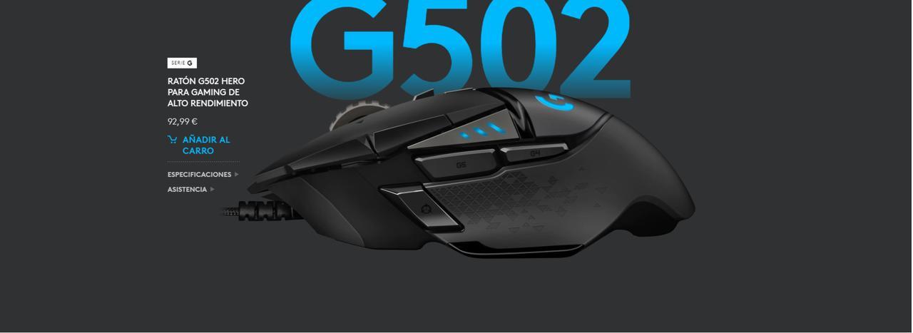 Presentación sobre Ratón gaming Logitech G502 Hero