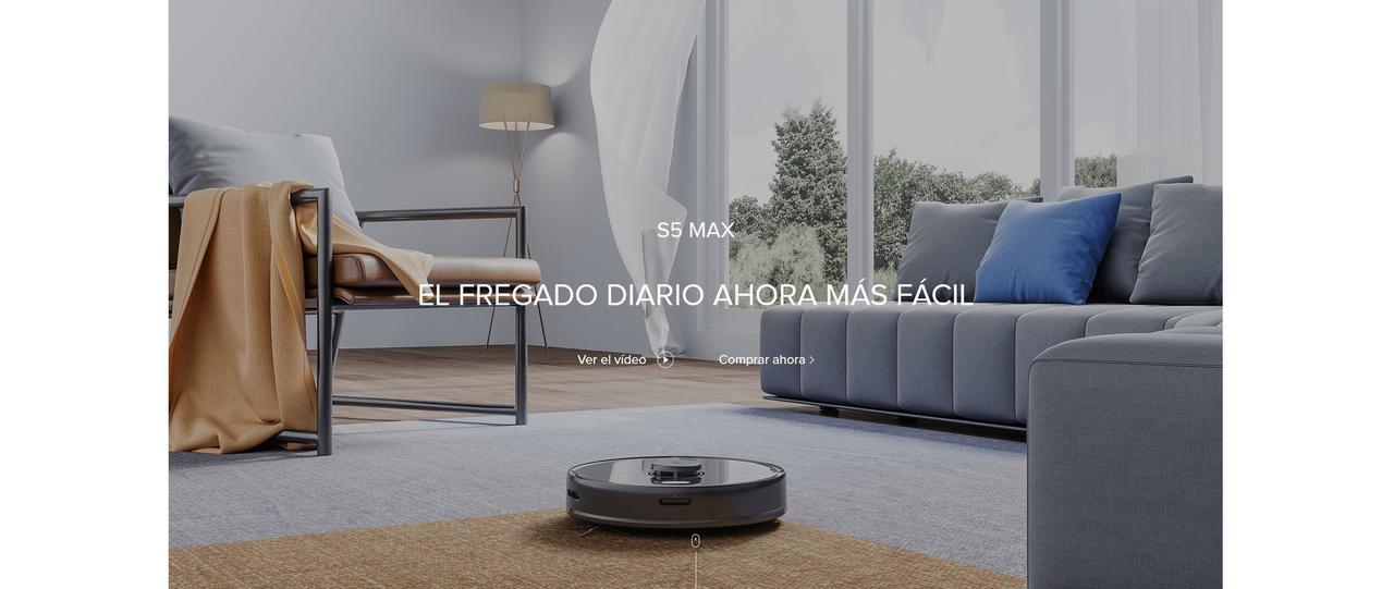 Presentación sobre Robot aspirador Roborock S5 Max