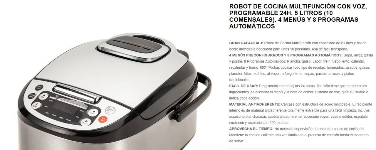Presentación sobre Robot de Cocina Multifunción con Voz Novogar