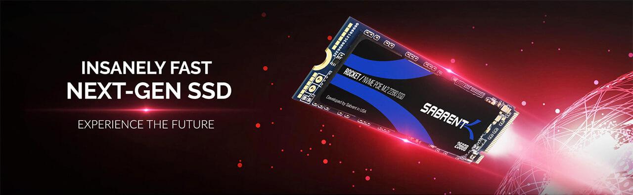 Presentación sobre Sabrent Rocket PCIe NVMe