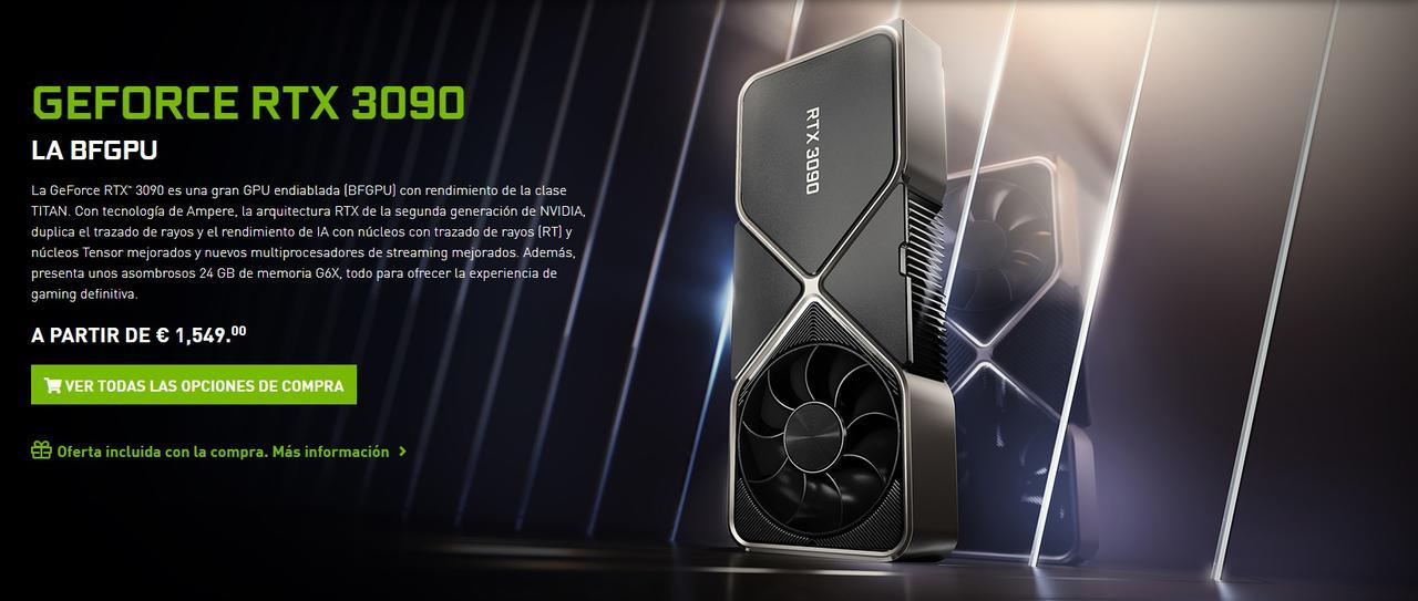 Presentación sobre Tarjeta gráfica Nvidia RTX 3090