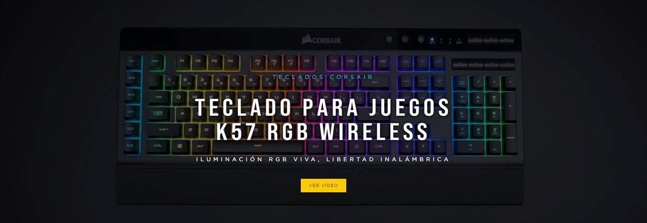 Presentación sobre Teclado Corsair K57 RGB Wireless