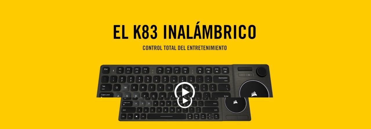 Presentación sobre Teclado Corsair K83 Wireless