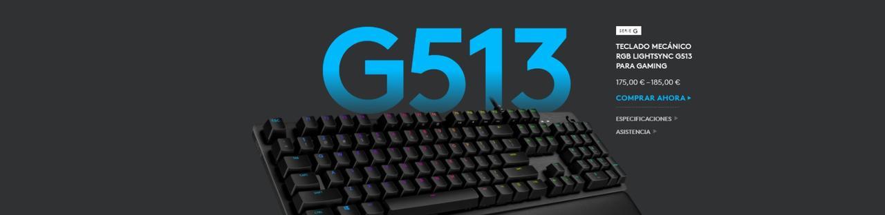Presentación sobre Teclado Logitech G513
