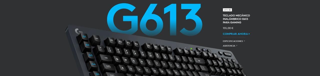 Presentación sobre Teclado Logitech G613