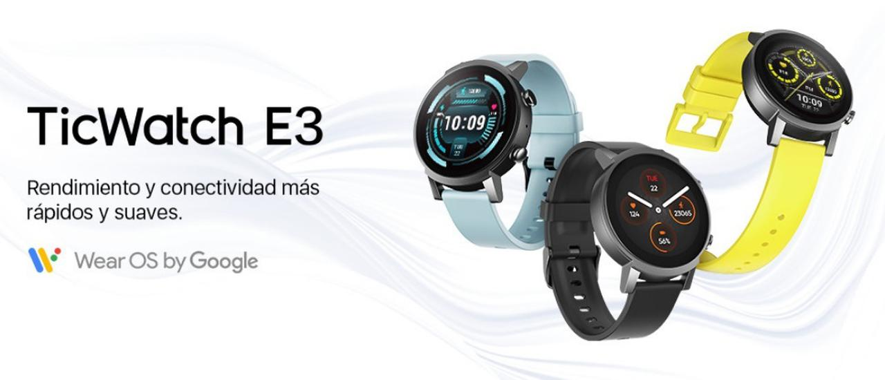Presentación sobre TICWATCH E3 Smartwatch