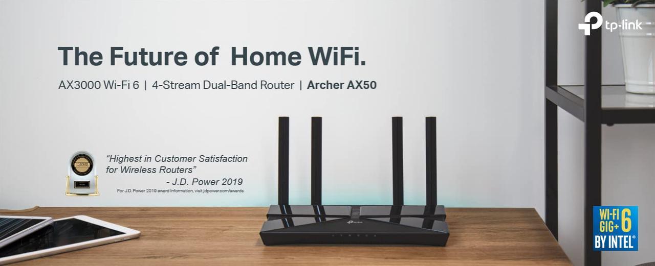 Presentación sobre TP-Link Archer AX50 WiFi 6 AX3000