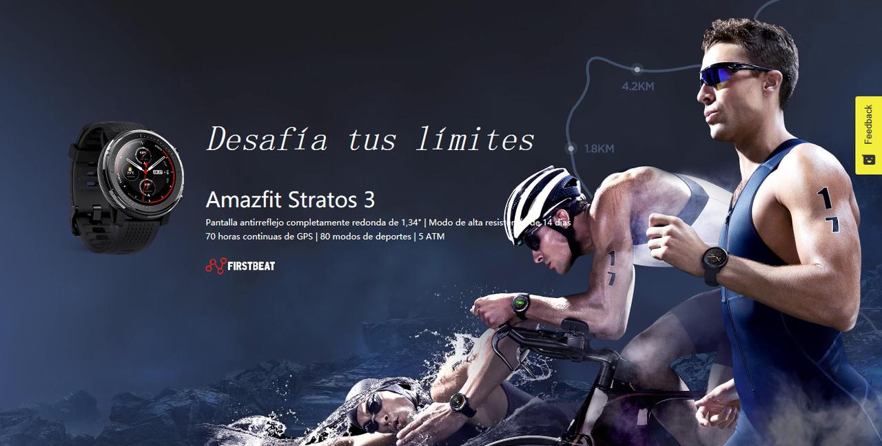Presentación sobre Xiaomi Amazfit Stratos 3