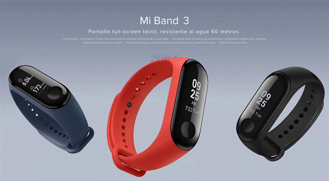 Presentación sobre Xiaomi Band 3