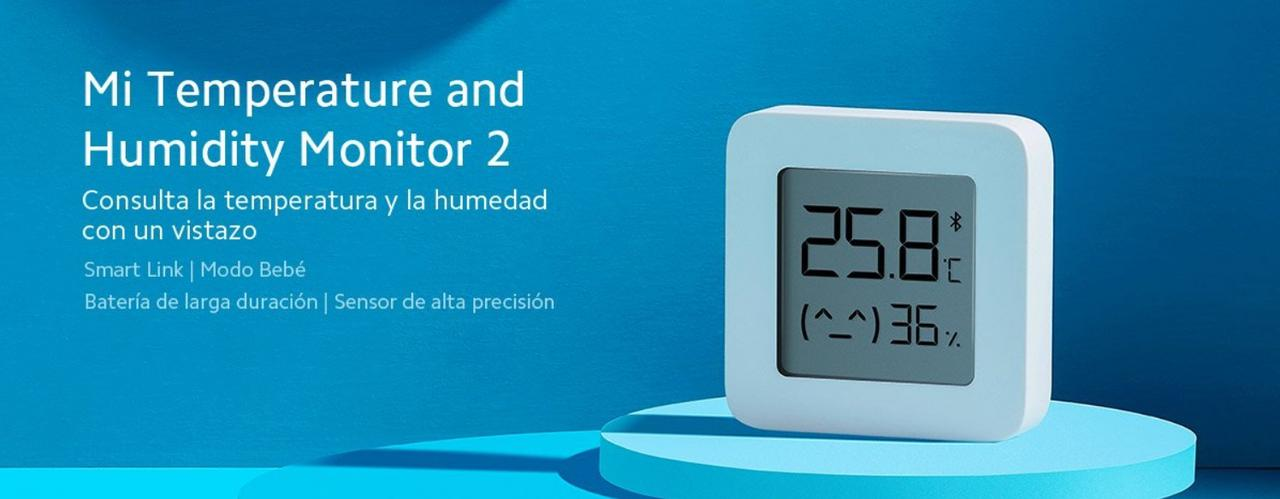 Presentación sobre Xiaomi Mi Home Monitor 2 Termómetro/Higrómetro