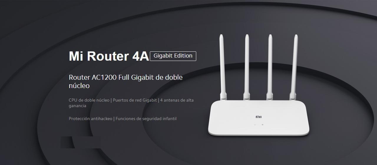 Presentación sobre Xiaomi Mi Router 4A Gigabit Edition