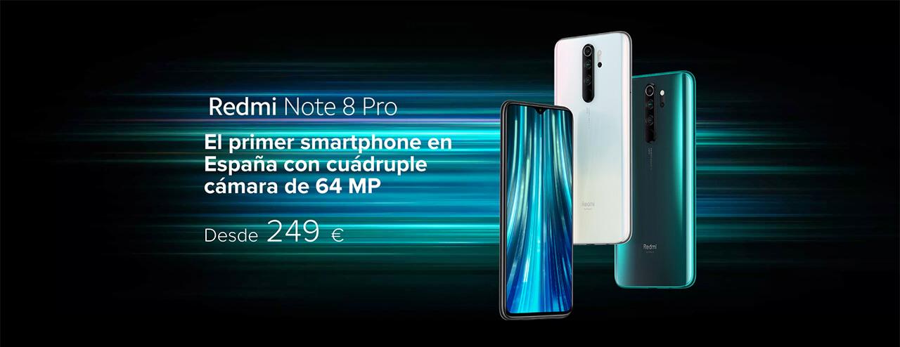 Presentación sobre Redmi Note 8 Pro