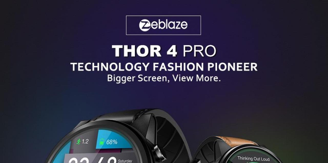 Presentación sobre Zeblaze THOR 4 PRO