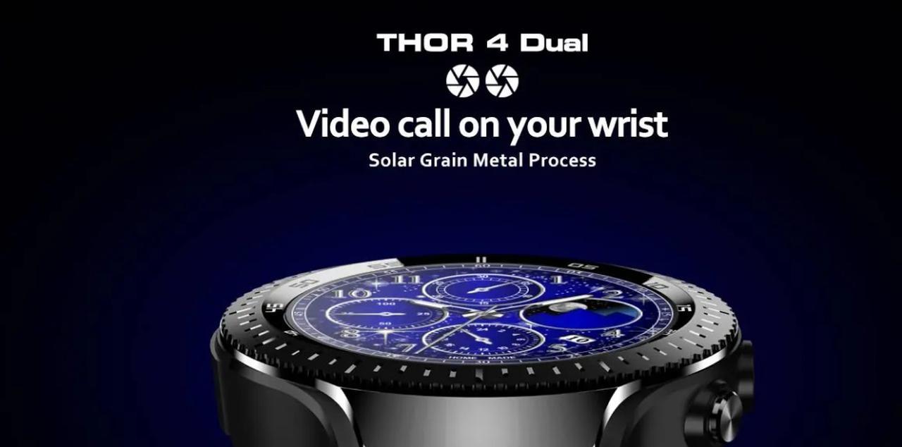 Presentación sobre Zeblaze THOR 4 Smartwatch Cámara Dual